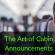 The Art of Cabin Announcements